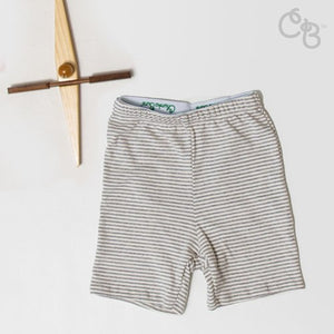 Organic Posh Oatmeal Stripe Shorts