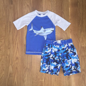 Shark Swim Set Size 3T