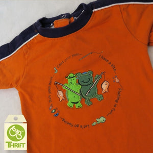 Thrifty Orange Bodysuit 3-6 Mo.
