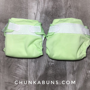 BumGenius Newborn diapers - preowned Grasshopper