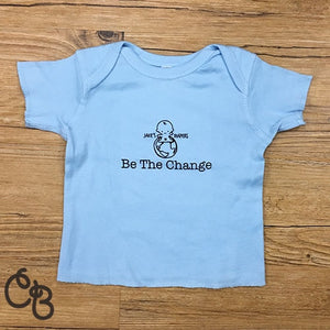 Be The Change!  Infant Tee for  Jake's Diapers