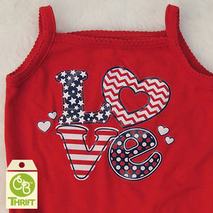 Thrifty Tank-Top Bodysuit 3-6 Mo.