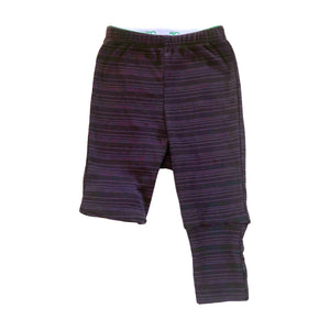 pants for cloth diapers black with plum stripes