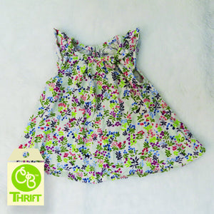 Thrifty Cotton Dress 0-3 Mo.