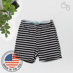 Organic Posh Stripe Shorts