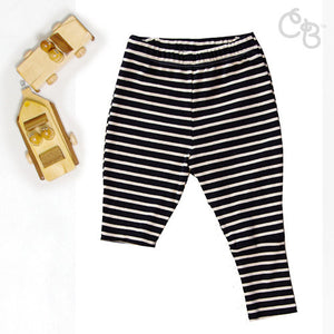 Organic Posh Stripe Pants