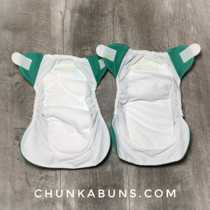 BumGenius Newborn diapers - preowned Hummingbird