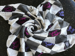 Argyle Skulls Single Layer Swaddle  Blanket