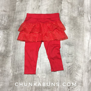 Red Pants With Ruffles size 12M