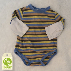 Thrifty Stripe Bodysuit 3-6 Mo.