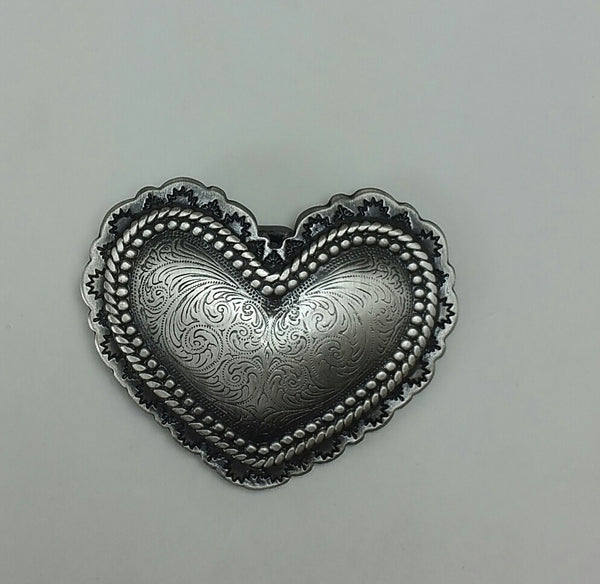 Heart Buckle Antique Plate