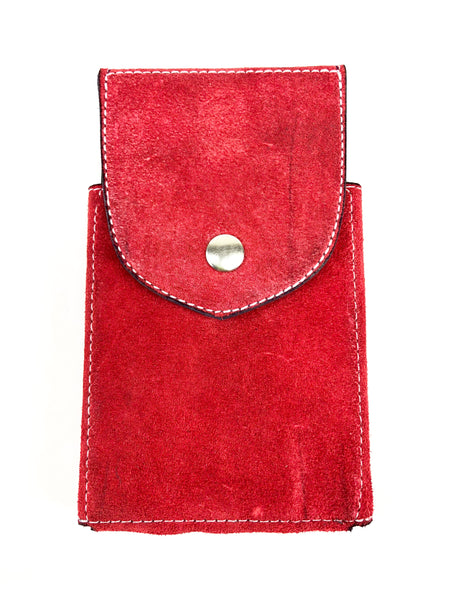Red Suede Phone Case