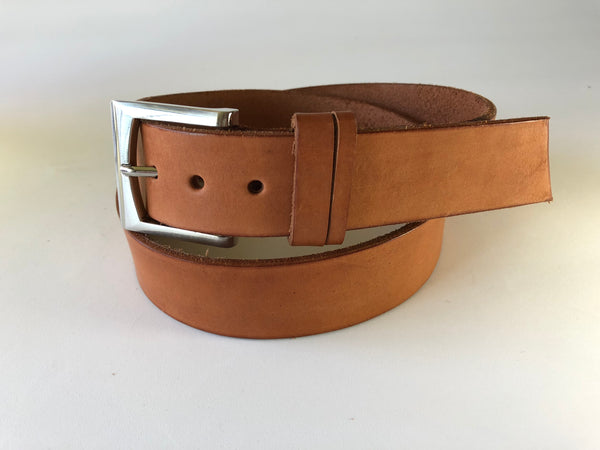 Men's Natural Leather Belt B2254