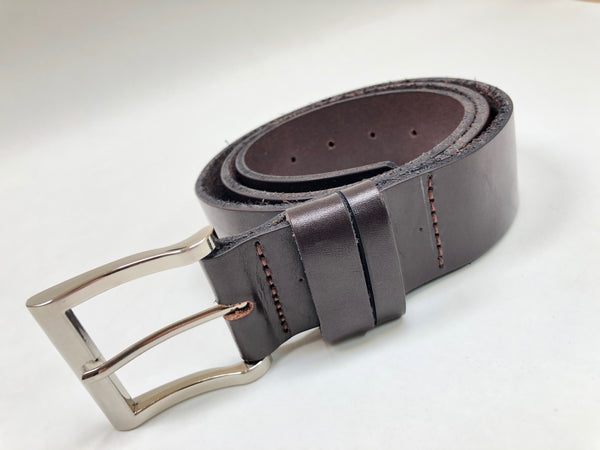 Men's Dark Brown Smooth Leather Belt 36Z6