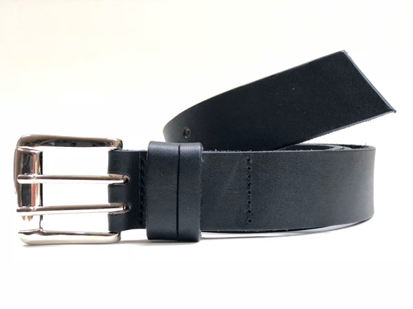 Men's Smooth Black Leather Belt 40C3