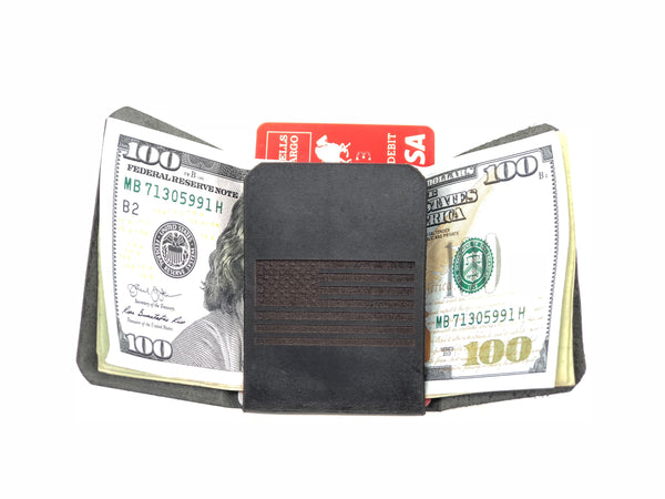USA Mini Leather Wallet SKU#MWB93