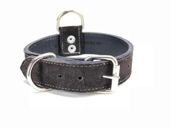 Brown Suede Dog Collar DC73