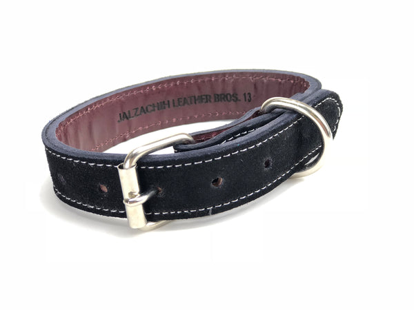 Suede Dog Collar Black DC113