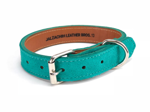 Turquoise Dog Collar Dark DC154