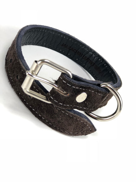 Brown Suede Dog Collar DC11