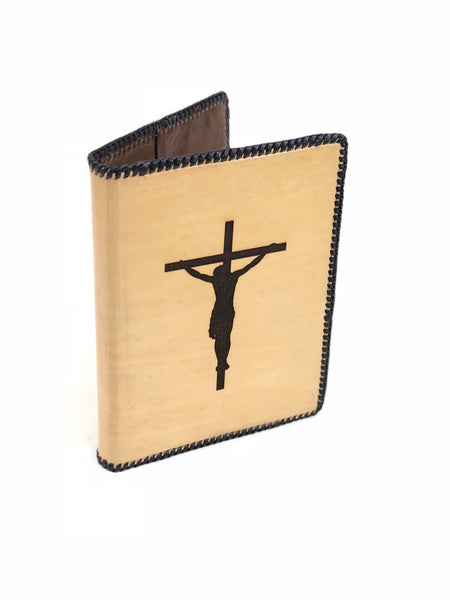 Bible Leather Cover in Natural with Brown Lining BLC25
