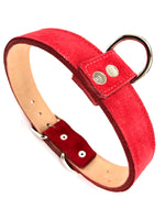 Red Suede Dog Collar DC34