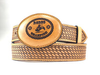 Rodeo Champion Leather Buckle
