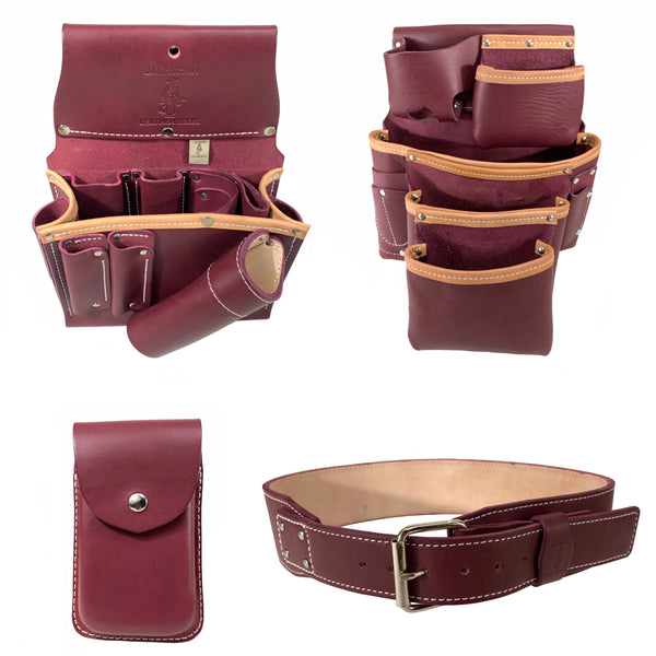 Jalzachih Leather Bros 3055 Carpenter Pouch Set Rigth Side.