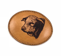 Cow Head Leather Buckle