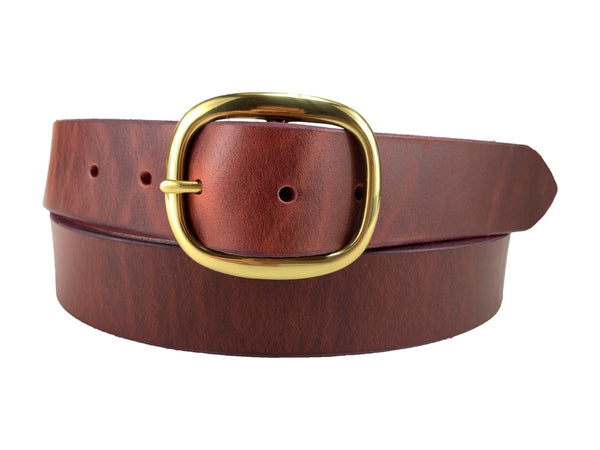 Jalzachih Leather Bros 1020 Smooth Burgundy Belt.