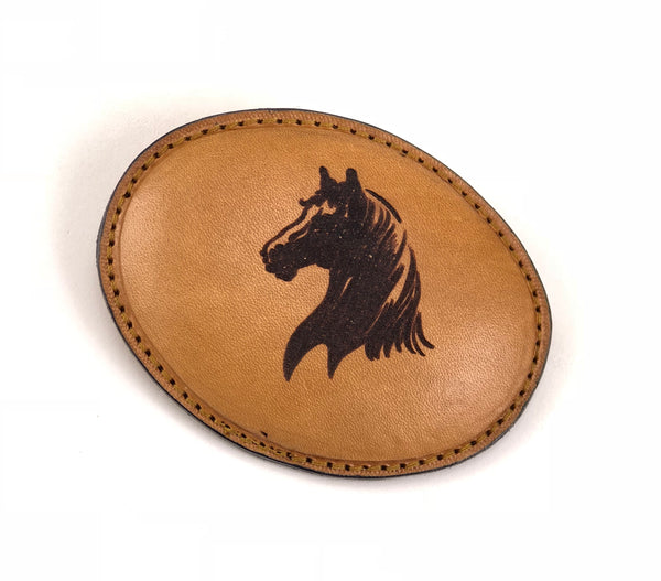 Horse Head Leather Buckle