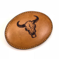 Cow Skull Head Leather Buckle