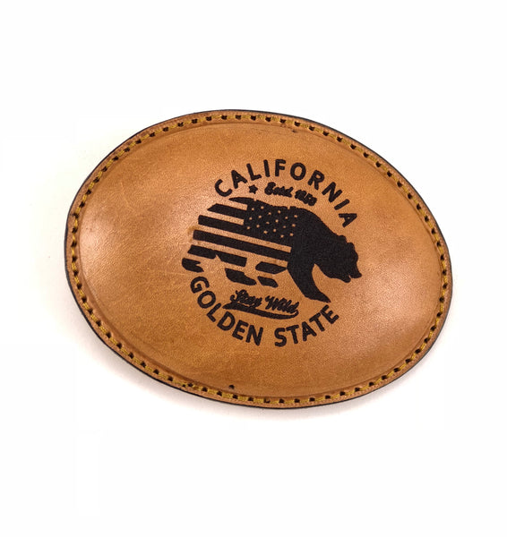 California Golden State Leather Buckle