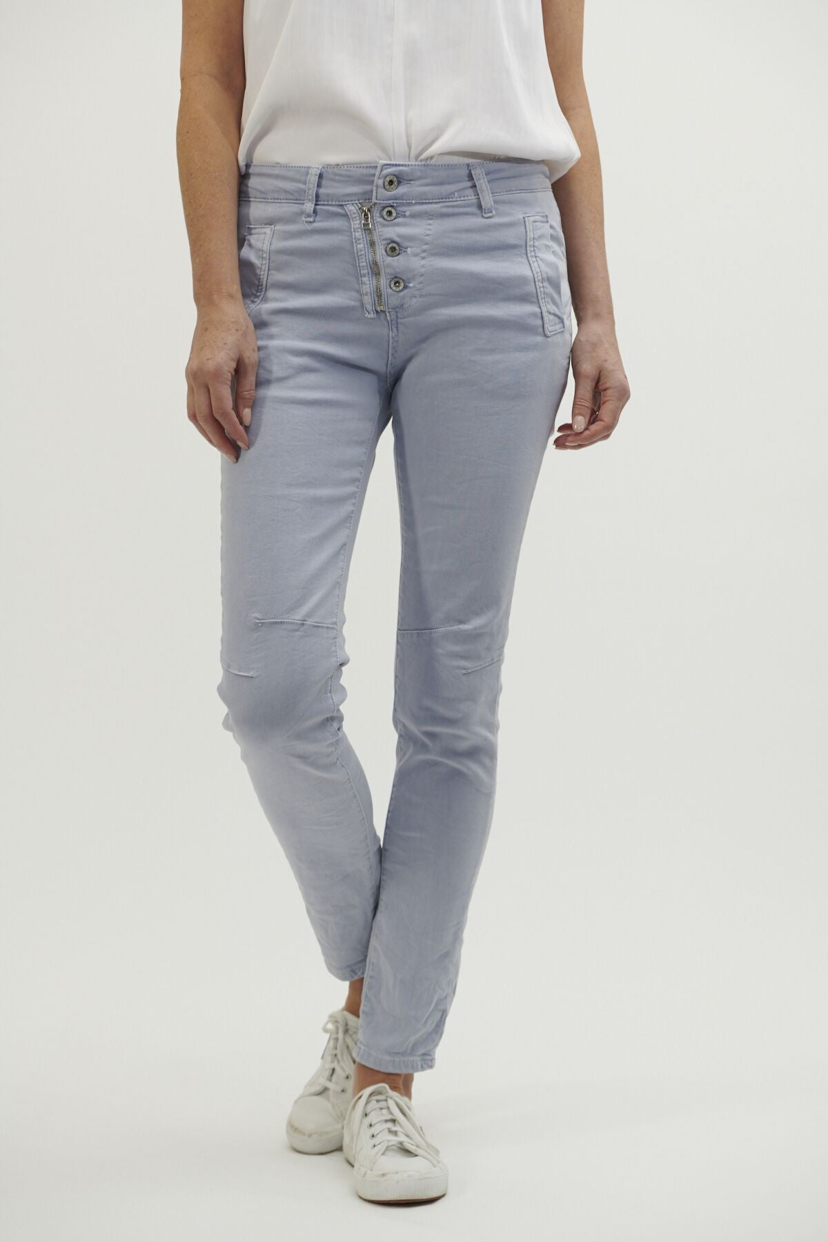 ITALIAN STAR - Button Jeans Ice Blue