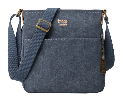TROOP - Classic Small Zip Top Shoulder Bag Blue
