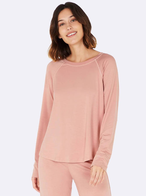 BOODY - Goodnight Raglan Top Dusky Pink