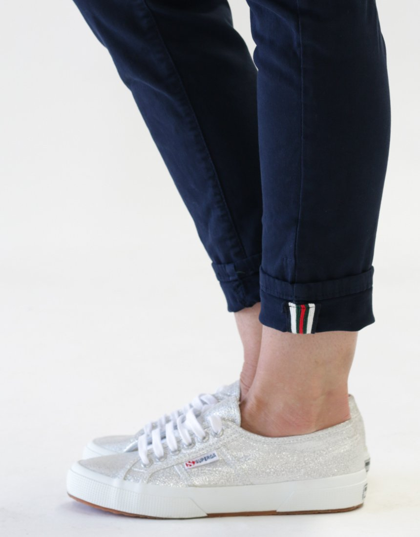 ITALIAN STAR - Classic Polo Drill Jogger Navy