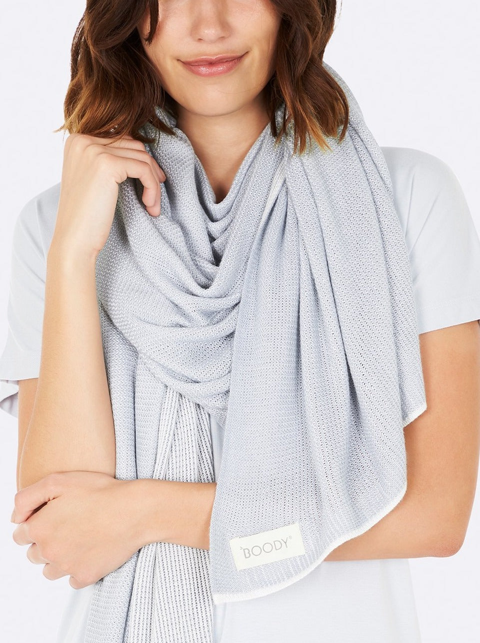 BOODY - Cosy Knit Wrap Dove