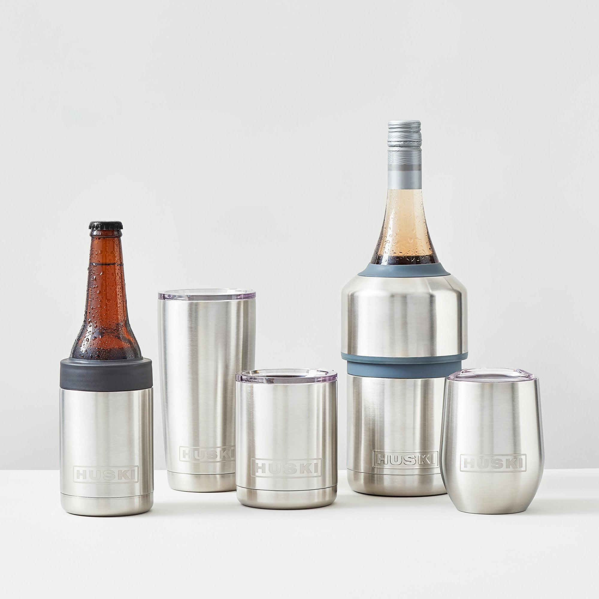 HUSKI - Wine Tumbler Brushed Stainless