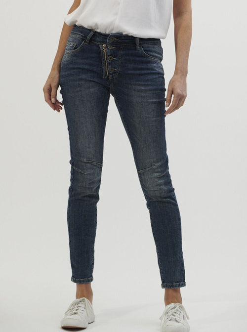 ITALIAN STAR - Button Jeans Denim
