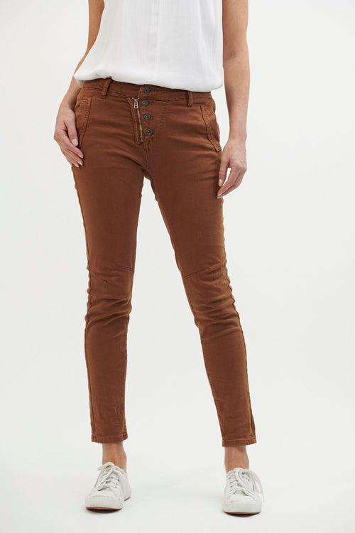 ITALIAN STAR - Button Jeans Rust