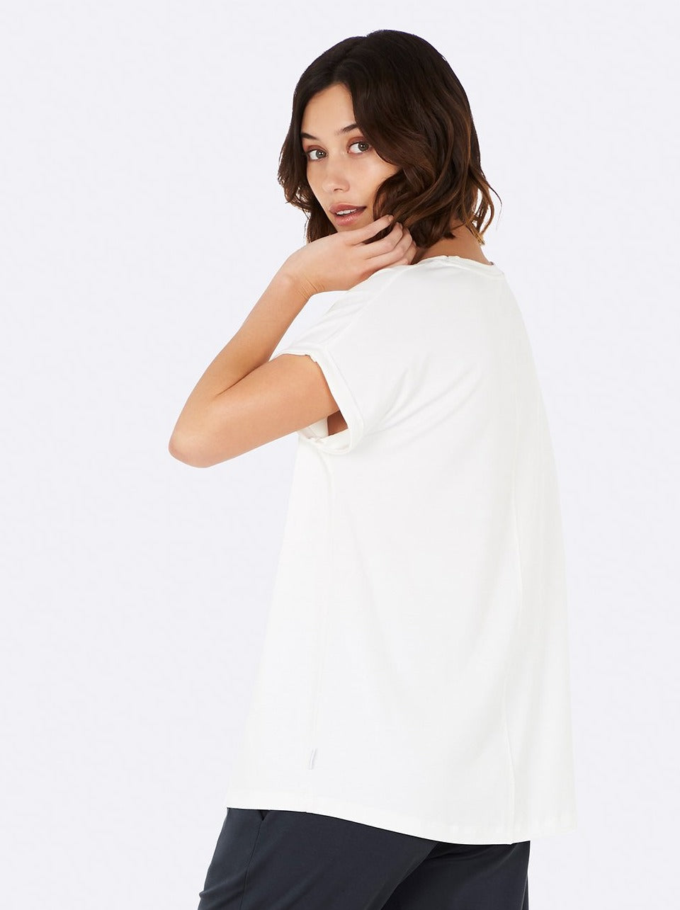 BOODY - Downtime Lounge Top Natural White