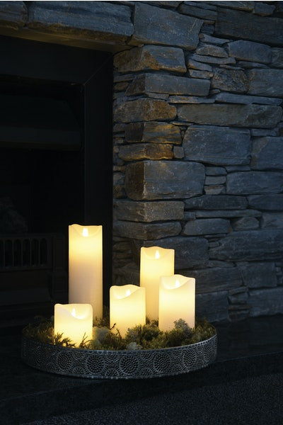 SIRIUS - Sara Excl H300 White Led Wax Candles