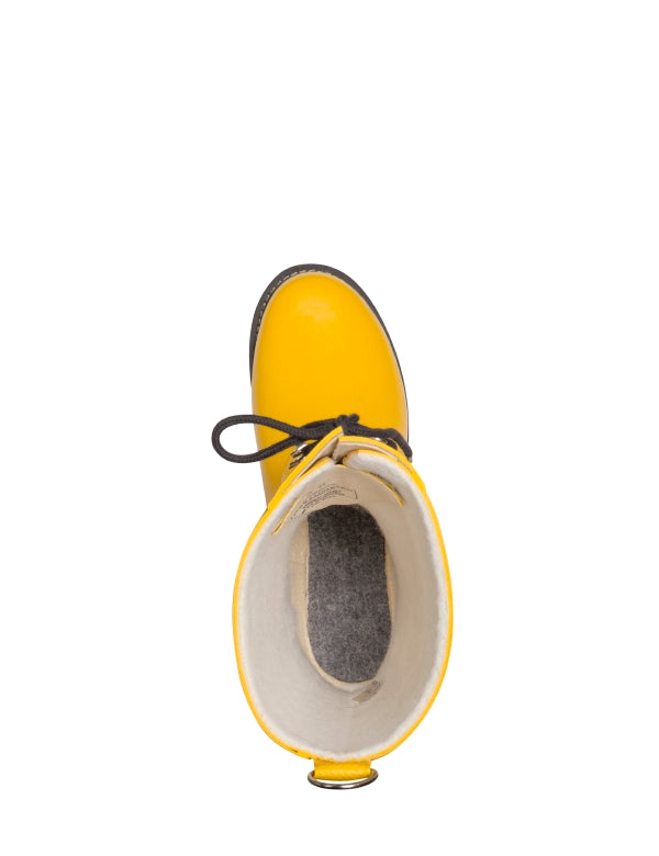 ILSE JACOBSEN - Mid Lace -Up Gumboot Cyber Yellow