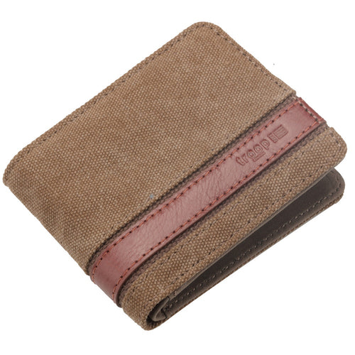 TROOP London - Colorado Canvas Wallet Brown