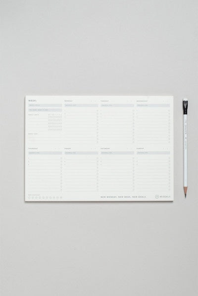 MiGoals - Weekly Desk Pad A4