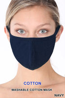 Solid Cotton Face Mask