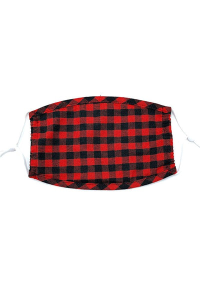 Kids Buffalo Plaid Mask