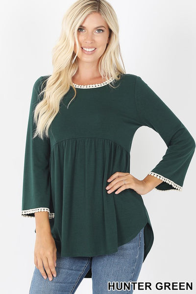 Empire Waist Shirring Top