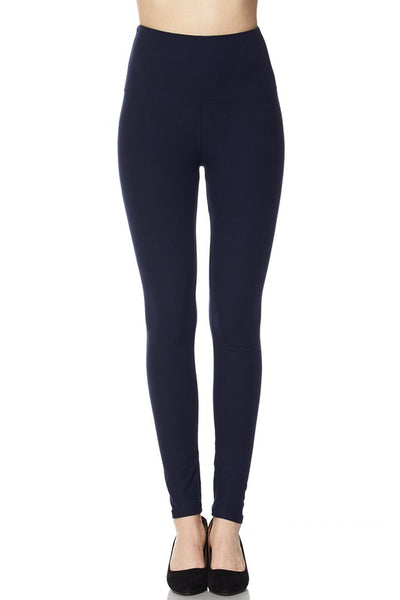 "Solid Ankle Leggings with 5"" waistband"